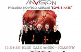 """AnVision promuje koncertowo nowy album """"Love & Hate"""" - 26 i 27 września"""